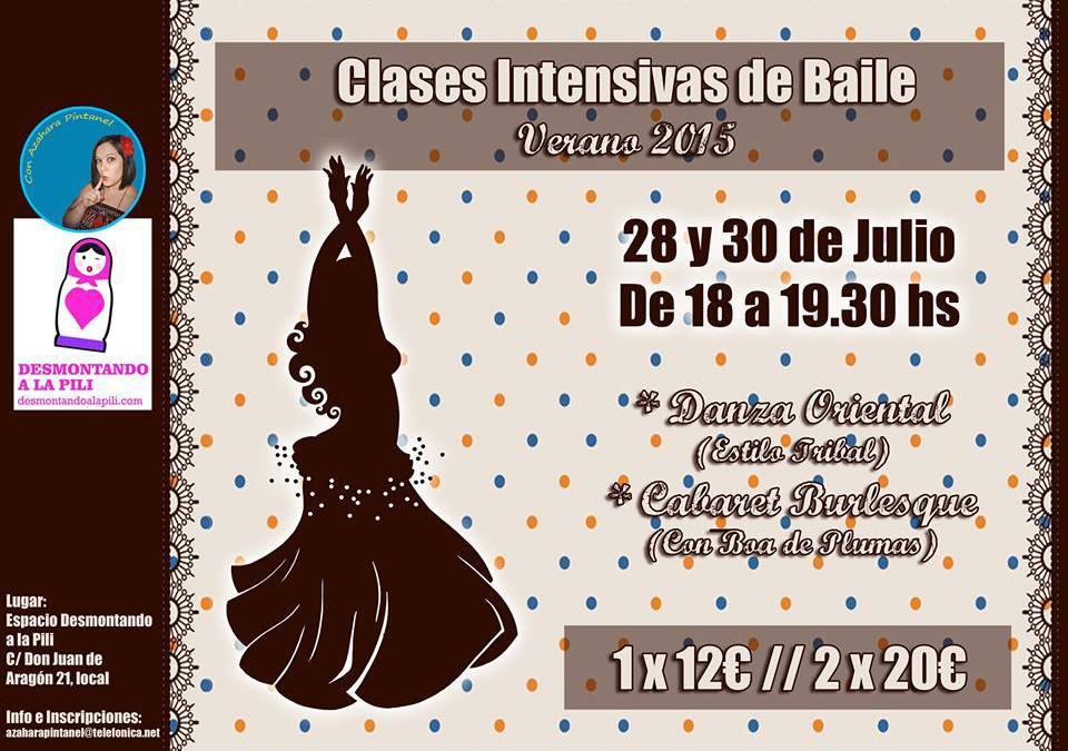 Talleres de Danza tribal y Cabaret en julio