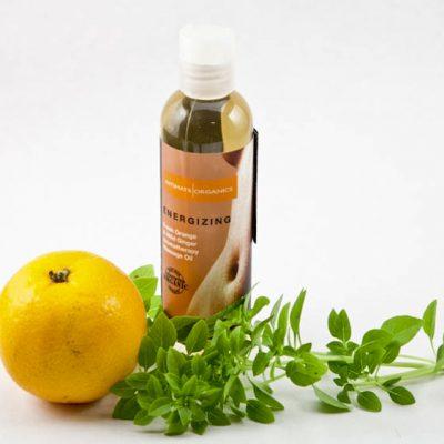 Aceite de masaje Energizing de Intimate Organics