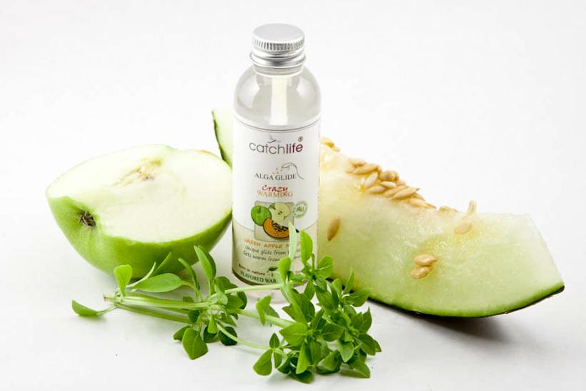 Lubricante vegano y orgánico Crazy de manzana verde y melón con algas rojas