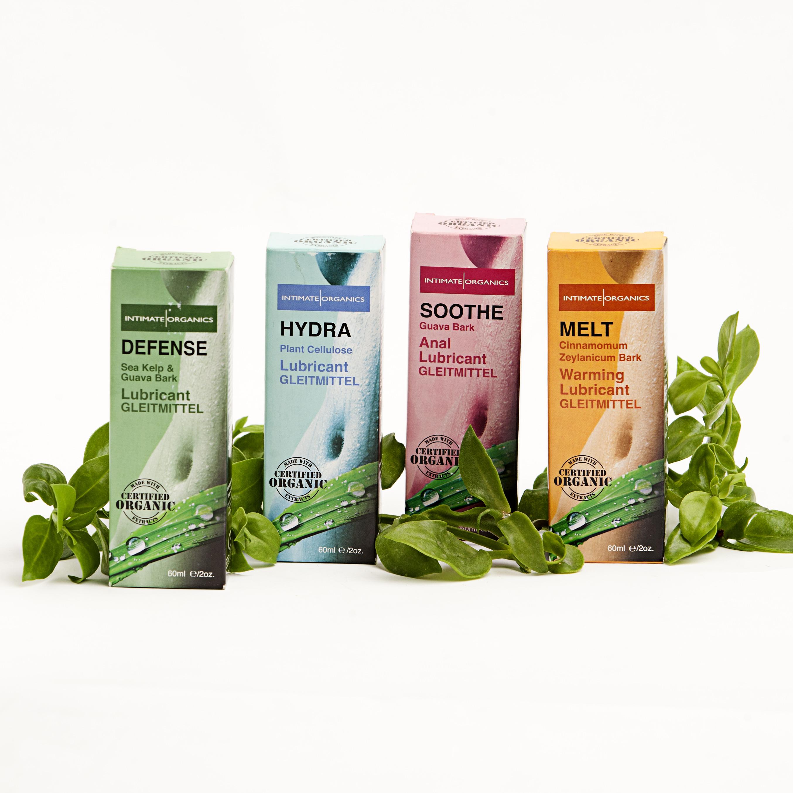 Línea de lubricantes intimate organics