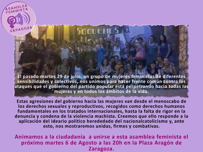 Asamblea Feminista de Zaragoza por los Derechos Sexuales y Reproductivos