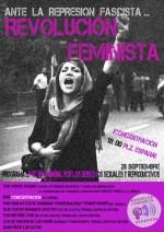 """""""Ante la represión fascista, revolución feminista"""" 28 de septiembre, 19.00h, plaza España Zaragoza"""