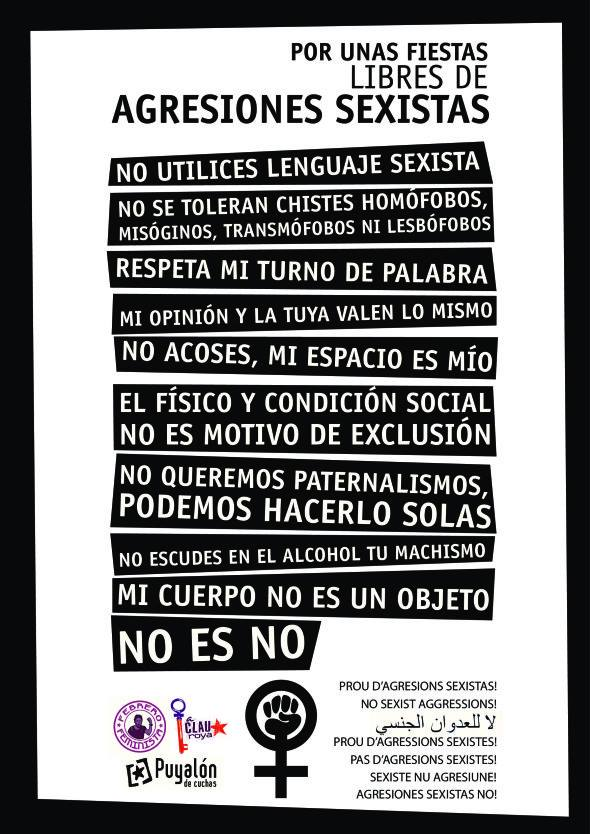¡Por unas fiestas del Pilar 2013 libres de agresiones sexistas!