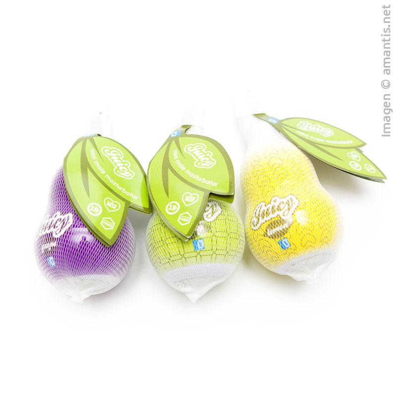 Masturbador para pene en forma de frutas