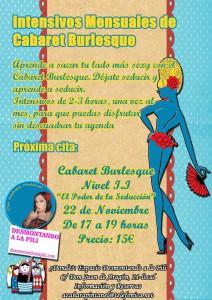 Taller cabaret burlesque Zaragoza Azahara Pintanel