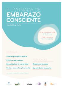 Cartel Jornada embarazo consciente Zaragoza